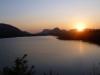 Il lago al tramonto