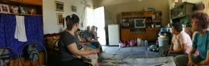 Una panoramica della casa della famiglia incontrata