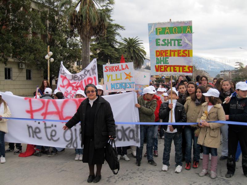 Festa della pace a Berat