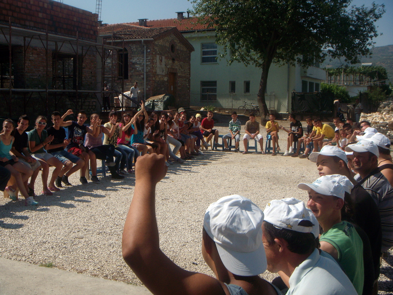 Ragazzi del Grest a Uznovë (estate 2012)