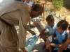 Don Giuseppe con i bambini del Grest (estate 2012)