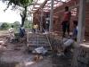 La casa dei giovani in costruzione