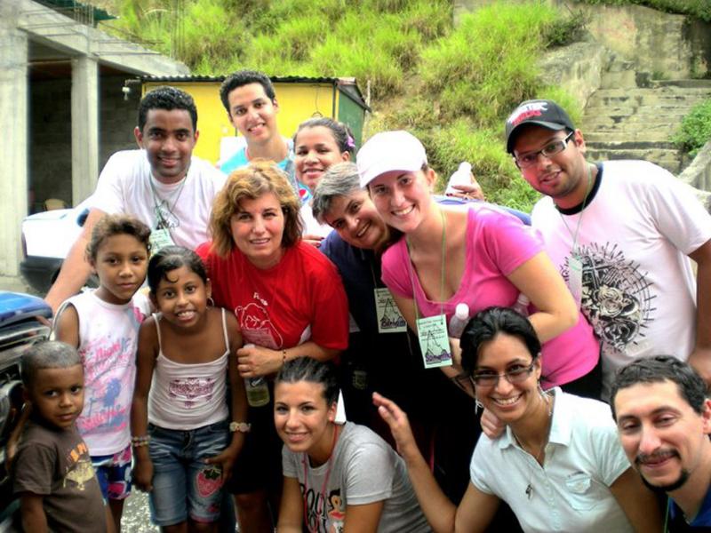 Il gruppo italiano in visita nel 2010
