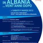 """Manifesto """"La Chiesa in Albania... Vent'anni dopo"""""""