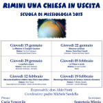 Locandina scuola di missiologia 2015