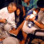 La lavanda dei piedi di Papa Francesco